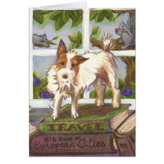 Jack Russell Terrier and Squirrels Greeting Card