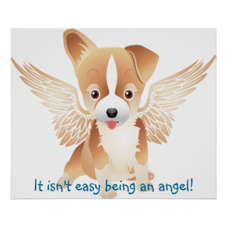 Jack Russell Terrier Angel Dog Gift Poster
