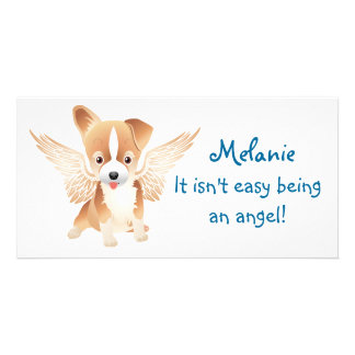 Jack Russell Terrier Angel Dog Photo Prints Card