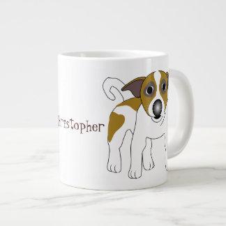 Jack Russell Terrier apenas añade nombre Tazas Extra Grande