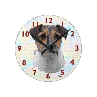 Jack Russell Terrier Art Round Wallclocks