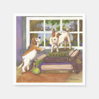 Jack Russell Terrier Beagle Squirrels Napkins