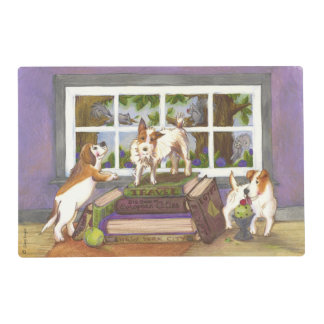 Jack Russell Terrier Beagle Squirrels Placemat