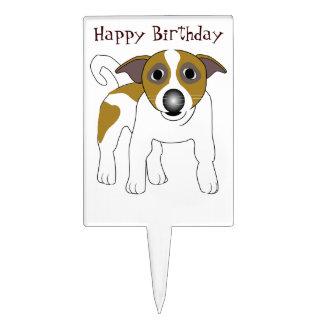 Jack Russell Terrier Birthday Cake Topper