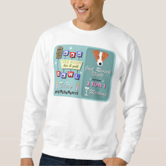 Jack Russell Terrier Bowling Tiki Night Sweatshirt