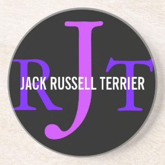 Jack Russell Terrier Breed Monogram Drink Coaster