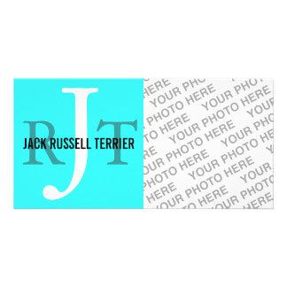 Jack Russell Terrier Breed Monogram Photo Card