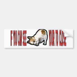 Jack Russell Terrier. Car Bumper Sticker