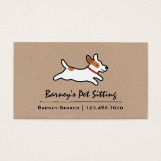 Jack Russell Terrier Cartoon Dog Business Card
