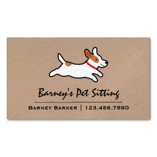 Jack Russell Terrier Cartoon Dog Business Card Magnet