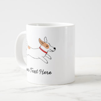 Jack Russell Terrier Cartoon Dog with Custom Text Giant Coffee Mug