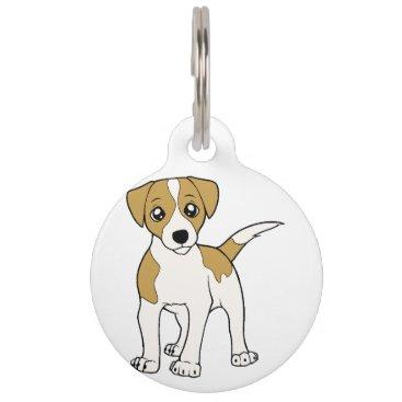 BreakoutTees jack-russell-terrier cartoon pet name tag