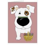¿Jack Russell Terrier - caza del hueso de Pascua, Tarjeta De Felicitación