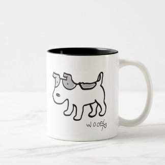 Jack Russell Terrier Chiro Two-Tone Coffee Mug