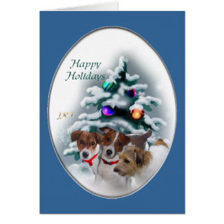 Jack Russell Terrier Christmas Gifts Card