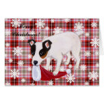 Jack Russell Terrier Christmas Snowflakes Card