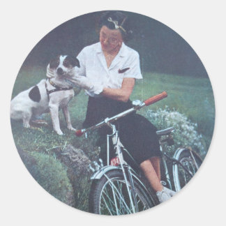 Jack Russell Terrier Classic Round Sticker