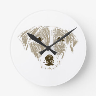 Jack Russell Terrier Round Wall Clocks