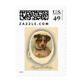 Jack Russell Terrier Collar Birthday Stamp