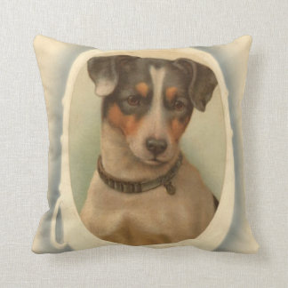 Jack Russell Terrier Collar Birthday Throw Pillow