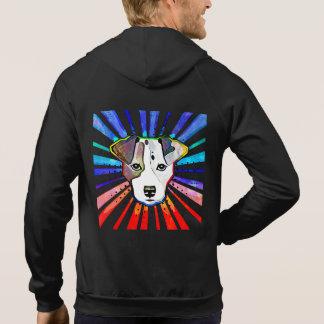 Jack Russell Terrier Colorful Pop Art Portrait Hoodie