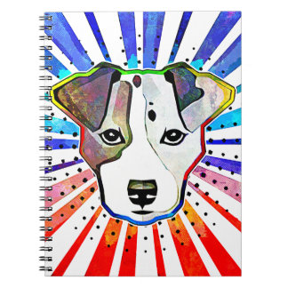 Jack Russell Terrier Colorful Pop Art Portrait Notebook