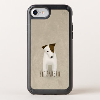 Jack Russell Terrier custom name any color greige Speck iPhone Case