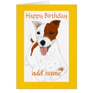 Jack Russell Terrier Customizable Birthday card