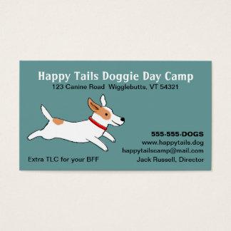 Jack Russell Terrier - Cute Dog Cartoon - Pet Care Business Card