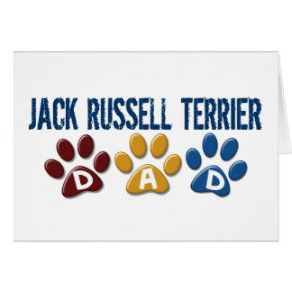Jack Russell Terrier Dad Paw Print 1 Greeting Card