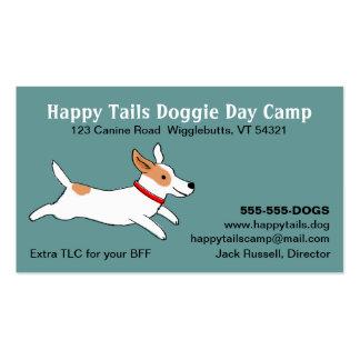 Jack Russell Terrier - dibujo animado lindo del pe Plantillas De Tarjeta De Negocio