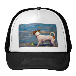 Jack Russell Terrier Dog Art - Jack at the Beach Trucker Hat