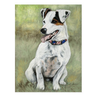 Jack Russell Terrier Dog Art Postcard