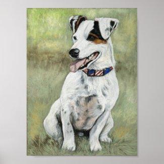 Jack Russell Terrier Dog Art Print print