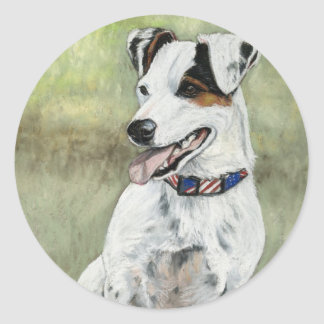 Jack Russell Terrier Dog Art Stickers