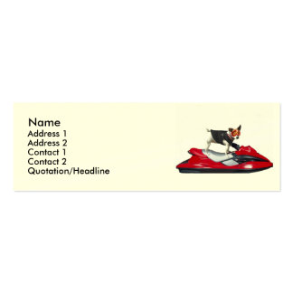 Jack Russell Terrier dog Double-Sided Mini Business Cards (Pack Of 20)