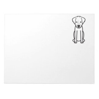 Jack Russell Terrier Dog Cartoon Notepad