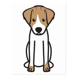Jack Russell Terrier Dog Cartoon Postcard
