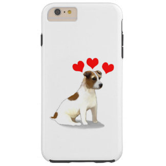 Jack Russell Terrier Dog Hearts Tough iPhone 6 Plus Case
