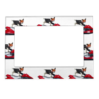 Jack Russell Terrier dog Magnetic Picture Frame