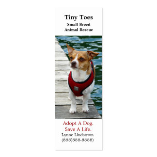 Jack Russell Terrier Dog Rescue Bookmark Biz Card
