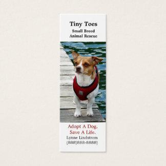 Jack Russell Terrier Dog Rescue Bookmark Biz Card