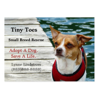 Jack Russell Terrier Dog Rescue Business Card