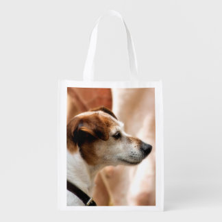 JACK RUSSELL TERRIER DOG REUSABLE GROCERY BAG