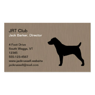 Jack Russell Terrier Dog Silhouette Double-Sided Standard Business Cards (Pack Of 100)