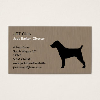 Jack Russell Terrier Dog Silhouette Business Card