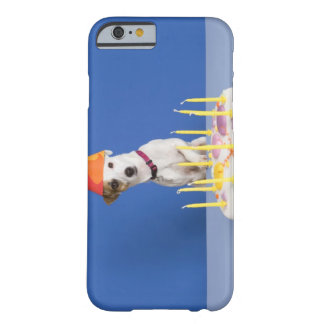 Jack Russell Terrier dog wearing party hat Barely There iPhone 6 Case
