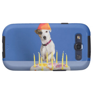 Jack Russell Terrier dog wearing party hat Galaxy S3 Covers