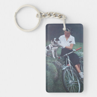 Jack Russell Terrier Double-Sided Rectangular Acrylic Keychain