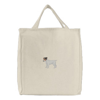 Jack Russell Terrier Embroidered Tote Bag